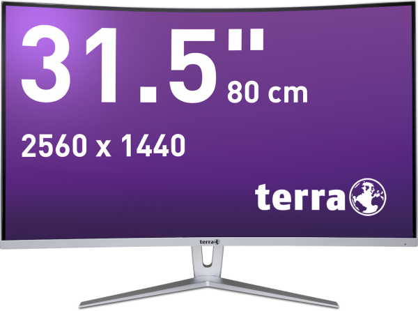 TERRA LCD/LED 3280W silver/white CURVED DP/HDMI