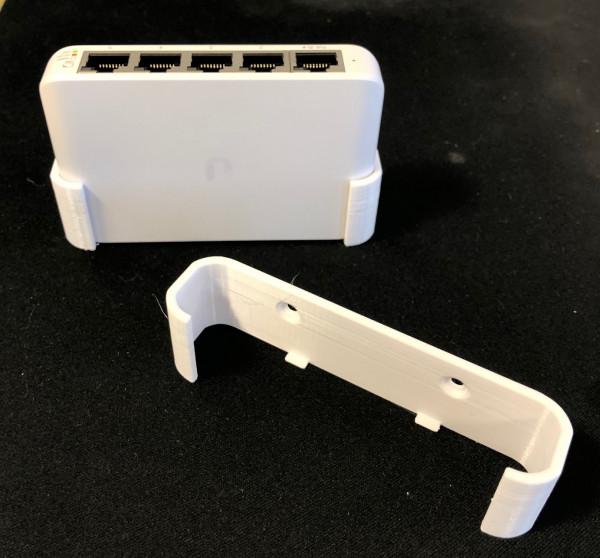 UniFi Switch Flex Mini series wall-mount 3D printed white